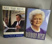 Signed George Bush And Barbara Bush - All The Best And A Memoir Autographed Potus