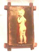 Candy Ice Cream Advertising 1900's Baby Daddys Boy Photo Glass Plate Monessen Pa