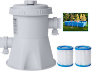 Omotor Pool Filter Pumps Above Ground - Clear Cartridge Filter Pump For Inflatab