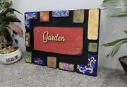New Name Plate Address Plaque With Art Design And Wooden Alphabets And Clay Work