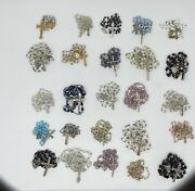 Vintage Antique Lot 25 Rosary Glass Beads Crucifix Medal Catholic Religious
