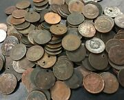 250 Mixed Date Cull Large Cents Early 1800and039s - 1850and039s Massive Lot Not Searched