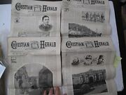 Lot 4 Issues Christian Herald 1893 Religion Russia Alaska Totems Evangelical Ads