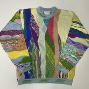 Vintage Coogi Cotton Knitted Sweater Size S Made In Australia Multicolor No729