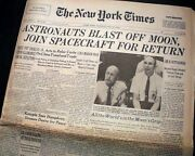 Apollo 11 Man Lands On The Moon Neil Armstrong And Buzz Aldrin 1969 Nyc Newspaper