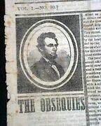 Historic Abraham Lincoln Assassination Fordand039s Theater J.w. Booth 1865 Newspaper