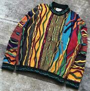 Vintage Coogi Cotton Knitted Sweater Size S Made In Australia Multicolor No711