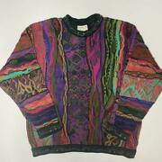 Vintage Coogi Cotton Knitted Sweater Size M Made In Australia Multicolor No740