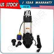550w Submersible Sewage Dirty Water Pump Cast Iron Float Switch 19000 L / H