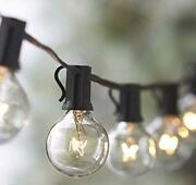 2pack String Lights 25ft Vintage Backyard Patio String Light With 25 Clear Globe