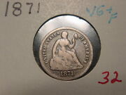 1871 Seated Liberty Half Dime Vg + F Nice Pq Combined Shipping