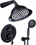 Oil Rubbed Bronze Shower System, Shower Faucet Sets Complete With Wall Mounted S
