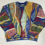 Vintage Coogi Cotton Knitted Sweater Size L Made In Australia Multicolor No773
