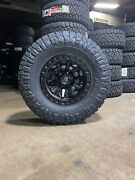 17x9 Fuel D694 Covert Black Wheels 35 Nitto At Tires 6x5.5 Toyota Tacoma 4runner