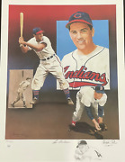 Lou Boudreau And Christopher Paluso Signed18x24 Artist Proof Lithograph 18/50 Jsa