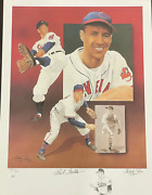 Bob Feller And Christopher Paluso Signed18x24 Artist Proof Lithograph 18/50 Jsa