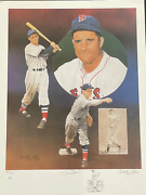 Bobby Doerr And Christopher Paluso Signed18x24 Artist Proof Lithograph 18/50 Jsa