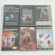 Magic Trick Dvd Lot 6 Tricks With Cards, Money, Napkins, And Much More