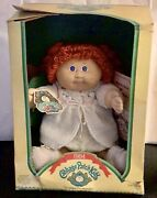 Vintage Cabbage Patch Doll 1984 Red Head Yarn Hair Blue Eyes Dimple New.