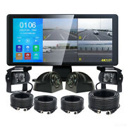 10.36 Touch Screen Quad Monitor Dvr Bluetooth+360anddeg View Front Side Rear Cameras