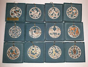Lenox 12 Days Of Christmas Ornaments Complete Set Of 12 Ornaments Lenox 12 Days