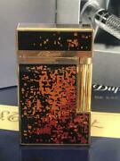 S.t Dupont Lighter Line 2.rare Pattern Genuine Lacquer