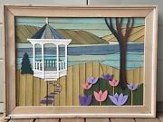 Theodore Degroot Lath Art Wooden Inlaid Gazebo Picture 34 X 25