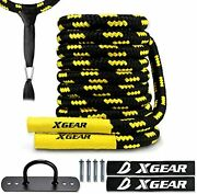 Xgear Heavy Battle Rope Exercise Training Rope With Anchor Strap Wall Hanger ...