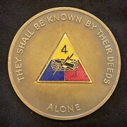 4th Brigade 1st Armored Division Vintage Large 2 3/8 Inch Challenge Coin