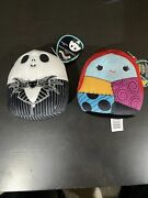 Squishmallows 5andrdquo Nightmare Before Christmas Jack Skellington And Sally Lot Of 2