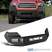 For 16-21 Toyota Tacoma Pickup Black Textured Front Guard Bumper Replacement