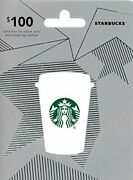 Starbucks Gift Card 100 50 40 25 Classic Birthday Red Holiday Thank You Silver