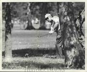 1973 Press Photo Golfer Miller Barber Swings Club In The Trees - Nos04210
