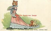Louis Wain Davidson Bros No 6902-2 Cats Its Twins This Time Thank You