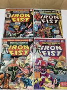 Marvel Premiere 15 16 17 18 1st 2nd 3rd 4th Iron Fist Lot No Value Stamp On 15