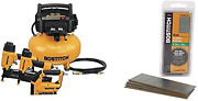 Bostitch Air Compressor Combo Kit 3-tool Btfp3kit And 18 Gauge Brad Nails 2-in