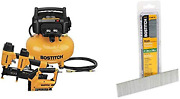Bostitch Air Compressor Combo Kit 3-tool Btfp3kit And 18 Gauge Brad Nails 1-3/