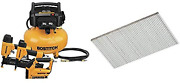 Bostitch Air Compressor Combo Kit 3-tool Btfp3kit And Finish Nails Bright 2-i