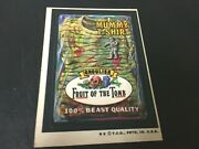 1974 Topps Wacky Packages Mummy T-shirt Fruit Of Tomb Series 6 Sticker Tan Back