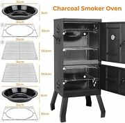 Vertical Charcoal Smoker Grill Bbq Barbecue Grill With Thermometer And Handle Us