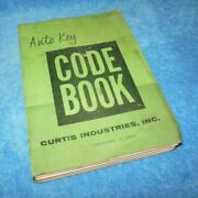 Vintage 1959 Curtis Industries Auto Key Code Book For Locksmith 18th Edition