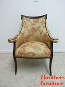 Antique Fireside Living Room Arm Chair Federal Style Lincoln Drape B