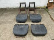 58/60 Corvette Seats Gm Frames And Cushions With Tracks Nice 59