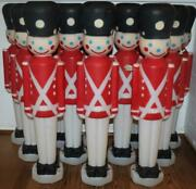 Vintage Empire Toy Soldier Blow Molds Holiday Red Huge Lot Of 12 Rare Free Ship