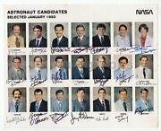 Nasa Astronaut Group Nine Candidates January 1980 8x10 Photo Signed By All 21