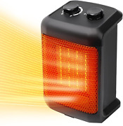 Evelyn Space Heater, 1500w Electric Heaters Portable With Thermostat, Safe And Q