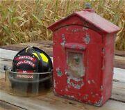 Gamewell Fire Alarm Station Box, Vintage Emergency Fire Fighting Pull Box D,