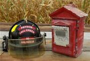 Gamewell Fire Alarm Station Box, Vintage Emergency Fire Fighting Pull Box E,