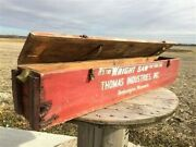 Wright Saw Wooden Crate Vintage Advertising Box Sign Vintage Wright Saw