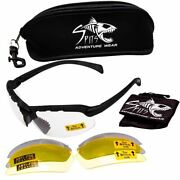 C2 Top Focal Magnifying Shooting Safety Glasses, 7 Frame Colors With 3 Lenses